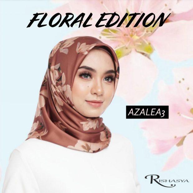 "Floral Edition Square 45"" Satin Dubai Silk"