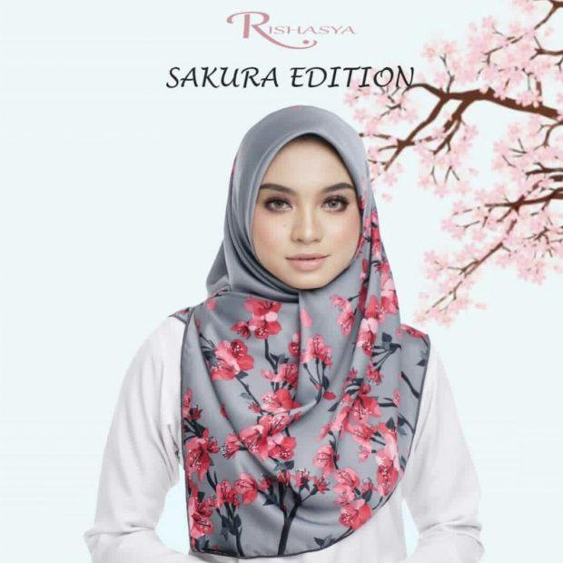 "Sakura Edition Square 45"" Satin Italian Silk"