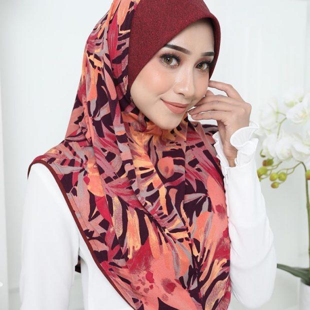 Aisyah Series Sarung Express Hijab Size M Korean Silky Moss Crepe Awning Cotton Denim