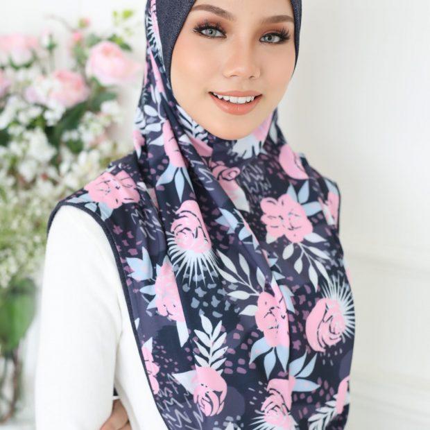 Aisyah Premium Series Sarung Express Hijab Size L Korean Silky Moss Crepe Awning Cotton Denim