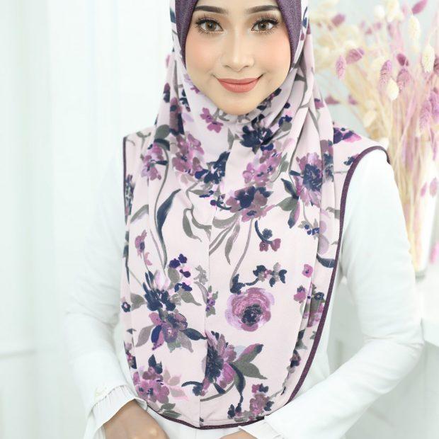 Aisyah Series Sarung Express Hijab Size L Korean Silky Moss Crepe Awning Cotton Denim
