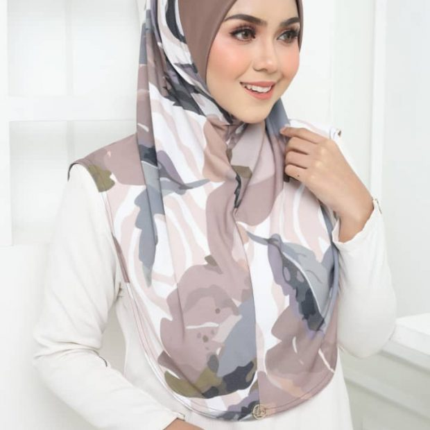 Lunna Luxe Express Hijab Series Size L Korean Silky Moss Crepe